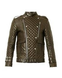 Quilted leather biker jacket medium 92090