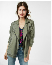 Express Silky Soft Twill Drape Moto Jacket