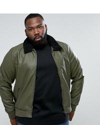 Barney's Originals Barneys Plus Faux Leather Jacket
