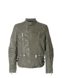 Neil Barrett Distressed Leather Jacket