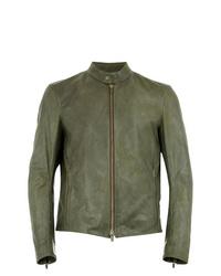 Ajmone Leather Biker Jacket