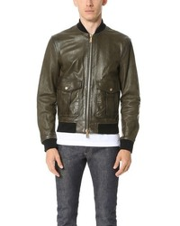 DSQUARED2 Pilot Leather Bomber Jacket