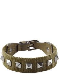 Valentino Rockstud Bracelet With Leather