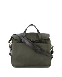 Olive Leather Briefcase