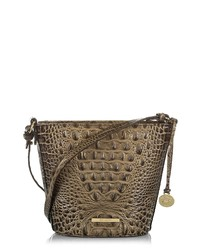 Brahmin Mini Quinn Leather Bucket Bag
