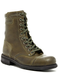 Olive Leather Casual Boots