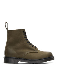 Dr. Martens Green Made In England 1460 Pascal Boots
