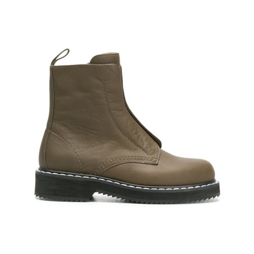 Jil Sander Navy High Ankle Combat Boots