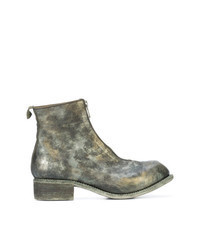 Olive Leather Chelsea Boots