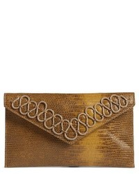 Hutton embossed faux leather clutch black medium 3992304