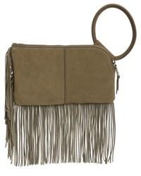 Sable leather clutch beige medium 5169245