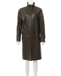 Leather knee length coat medium 5422701