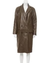 Leather trench coat medium 5422702
