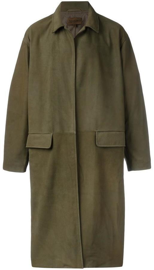 be9a78795a344 ... Yeezy Season 3 Leather Mid Coat