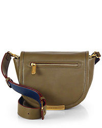 Olive Leather Crossbody Bag