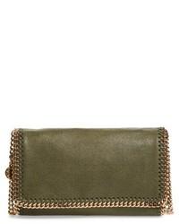 Falabella shaggy deer faux leather crossbody bag green medium 5264663