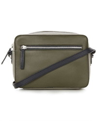 Leather Boxy Cross Body Bag
