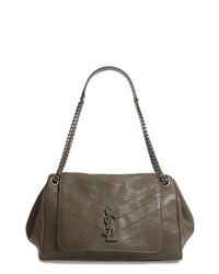 Saint Laurent Medium Nolita Leather Shoulder Bag