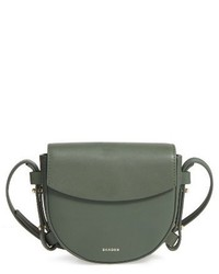 Mini lobelle leather saddle bag green medium 3752710