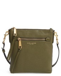 Recruit northsouth leather crossbody bag green medium 4136476