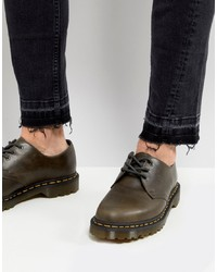 Dr. Martens 1461 3 Eye Shoes In Dark Taupe