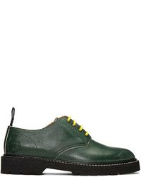 Green leather distressed derbys medium 1125539