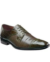 Stacy Adams Garcea 24824 Olive Leather Cap Toe Shoes