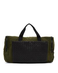 Bottega Veneta Green Intrecciato Packable Duffle Bag