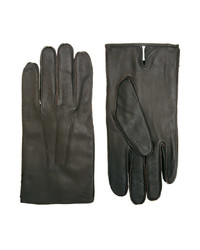 Olive Leather Gloves