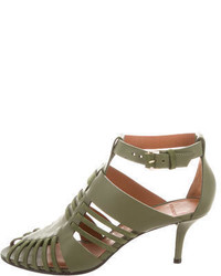 Givenchy Leather Cage Sandals