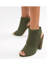 ASOS DESIGN Hissy Knitted Heels