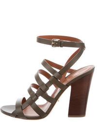 Sergio Rossi Leather Capri Sandals W Tags