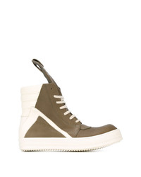 Rick Owens Geobasket Hi Top Sneakers