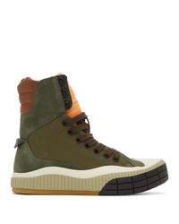 Chloé Green Clint High Top Sneakers