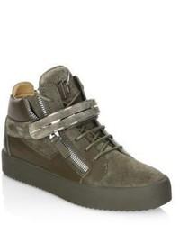 Giuseppe Zanotti Leather High Top Sneakers