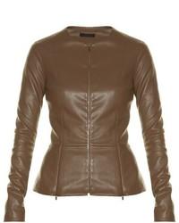 Anasta collarless leather jacket medium 781688