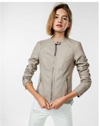 Leather double peplum jacket medium 5082817