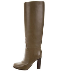 Celine Cline Leather Knee High Boots