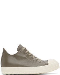 Rick Owens Taupe Calfskin Low Sneakers