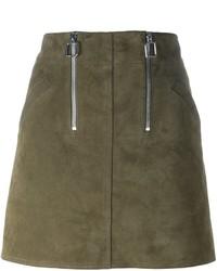 Courreges Courrges Zip Detail A Line Mini Skirt
