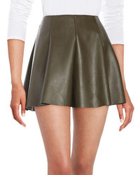 Design Lab Lord Taylor Gorde Faux Leather Skirt
