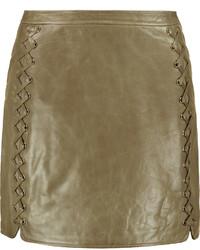 Rebecca Minkoff Vixen Whipstitched Leather Mini Skirt