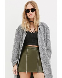 Forever 21 Zippered Faux Leather Mini Skirt