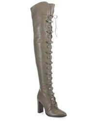 Jimmy Choo Maloy Leather Over The Knee Lace Up Boots