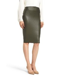 Spanx Faux Leather Pencil Skirt