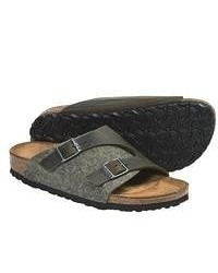 Olive Leather Sandals