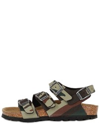 Birkenstock Canberra Camo Faux Leather Sandals