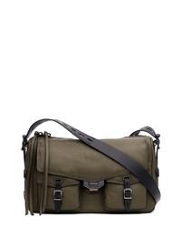 Rag & Bone Field Puffer Leather Messenger Bag