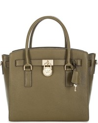 Michael Kors Michl Kors Hamilton Large Leather Satchel Olive 30s7ghms7l 333