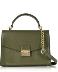 Michael Kors Michl Kors Sloan Medium Olive Leather Satchel Bag